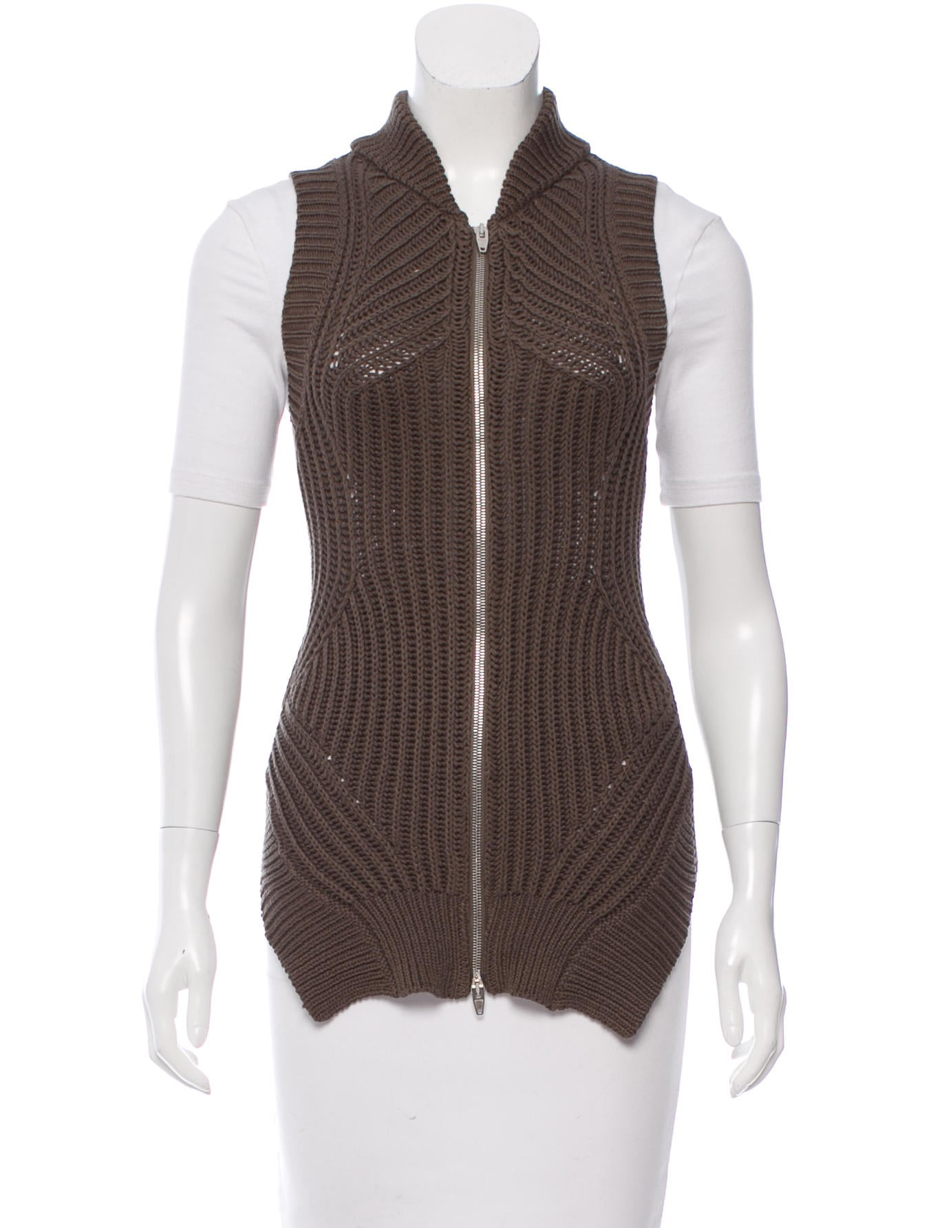 Arm Knitting Vest : Alexander wang zip accented knit vest clothing