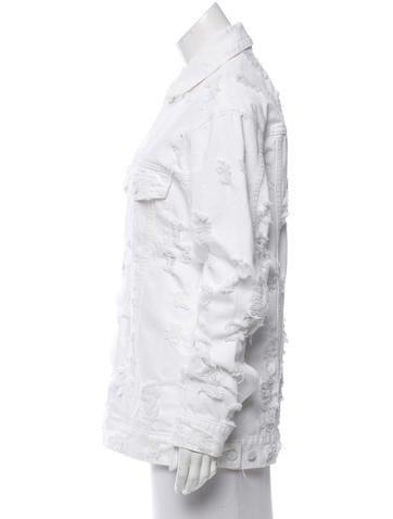 Distressed Denim Jacket w/ Tags