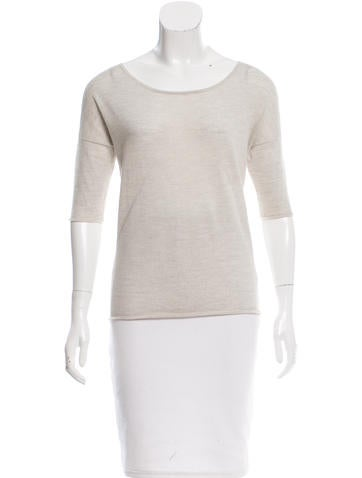 Alexander Wang Short Sleeve Wool Top None