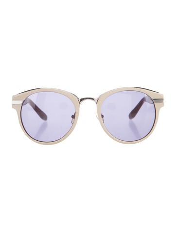 x Linda Farrow Round Sunglasses