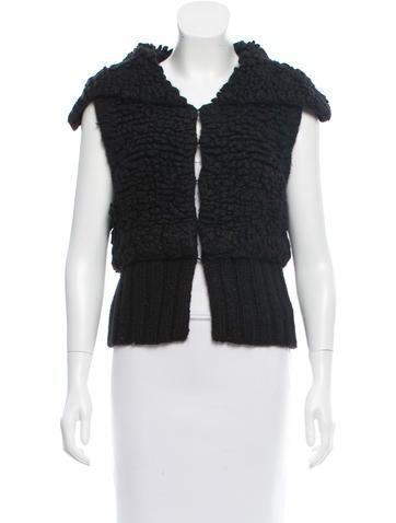 Alexander Wang Sleeveless Wool-Blend Cardigan None