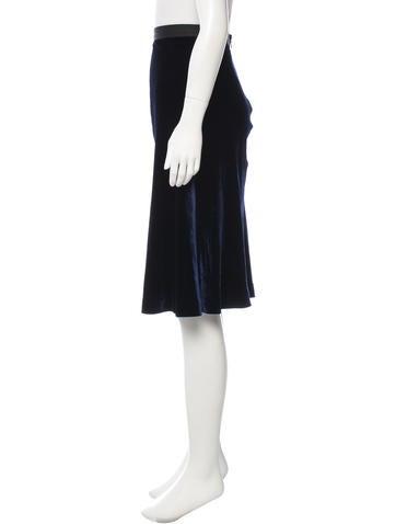 wang velvet a line skirt clothing alx35808