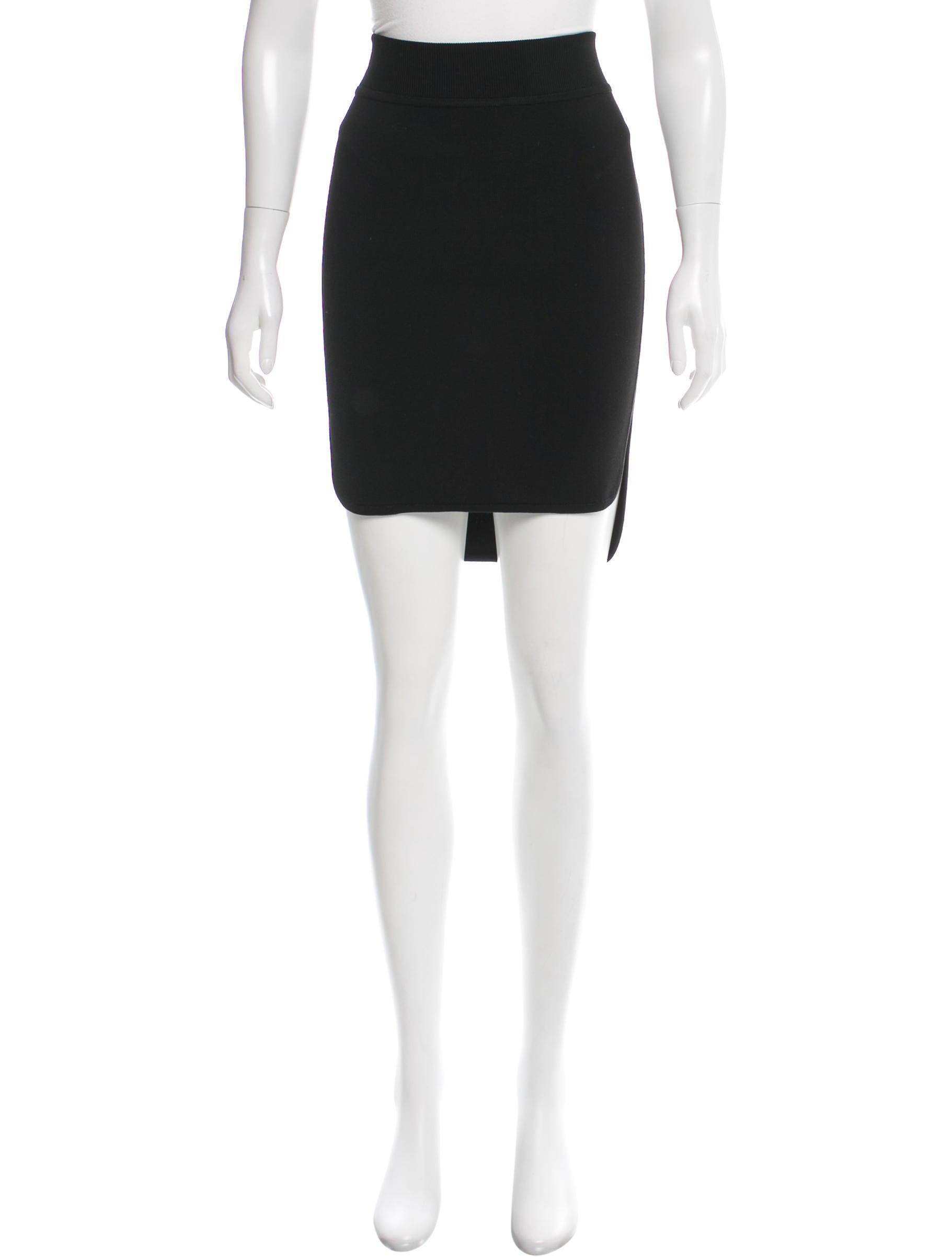 wang rib knit knee length skirt skirts