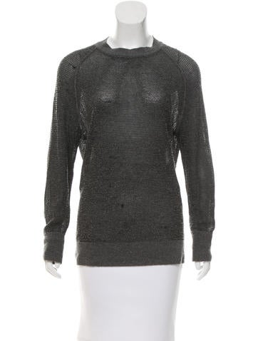 Alexander Wang Textured Crew Neck Sweater None