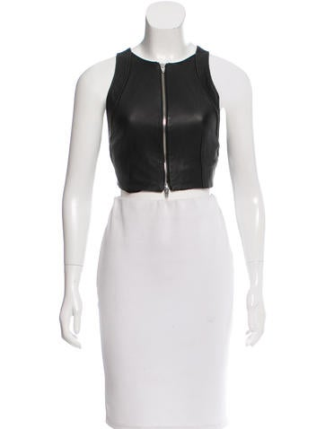 Alexander Wang Leather Crop Top None