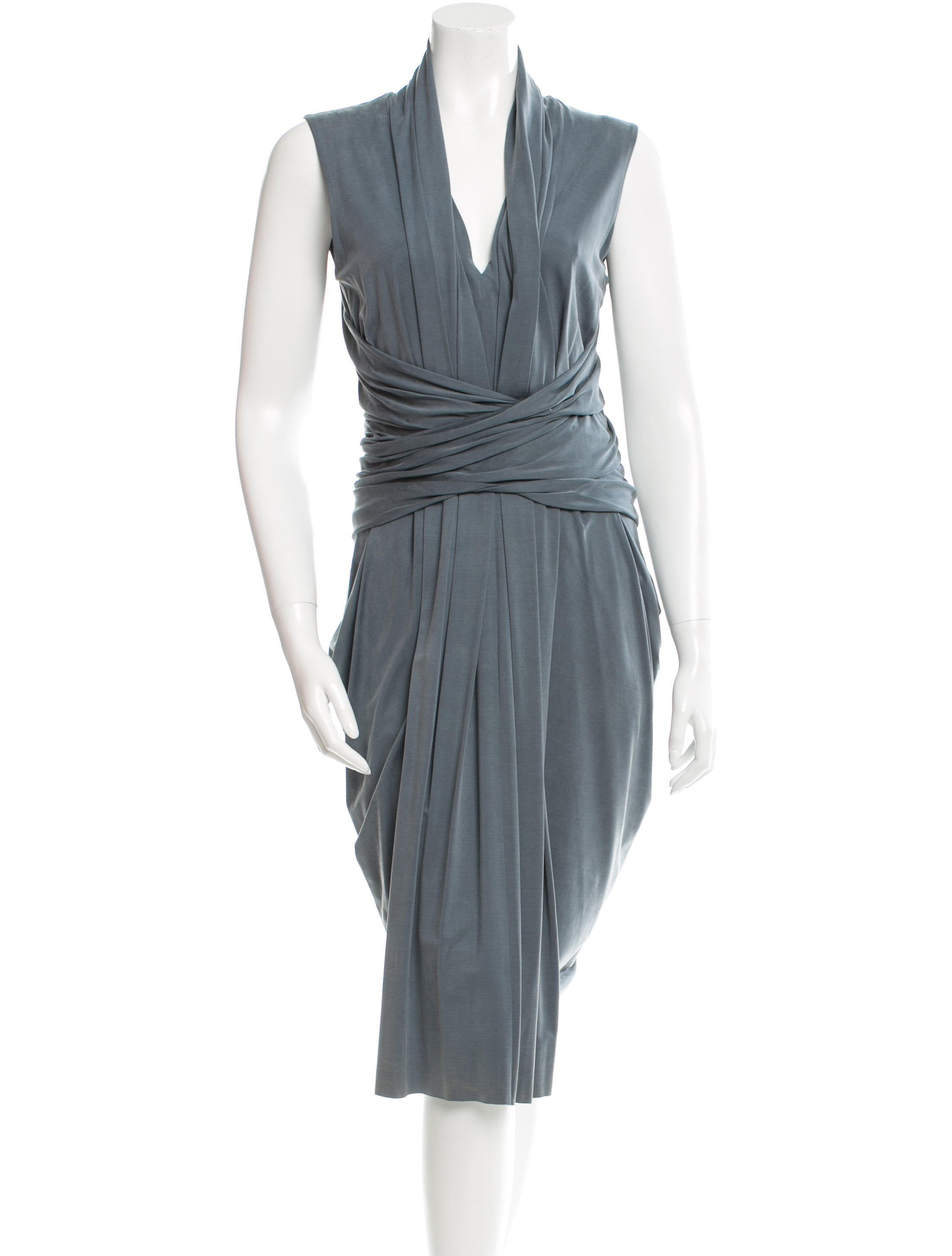 Alexander wang draped midi dress clothing alx36177 for Alexander wang wedding dresses