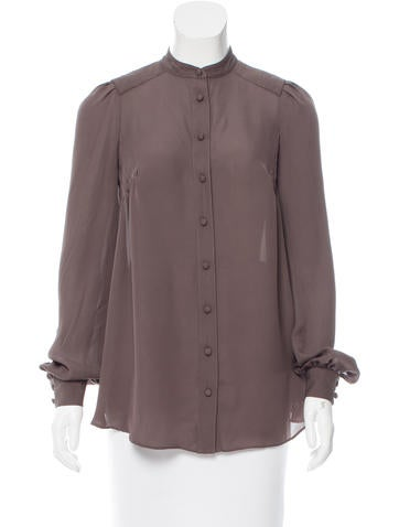 Alexander Wang Long Sleeve Pleated Blouse None