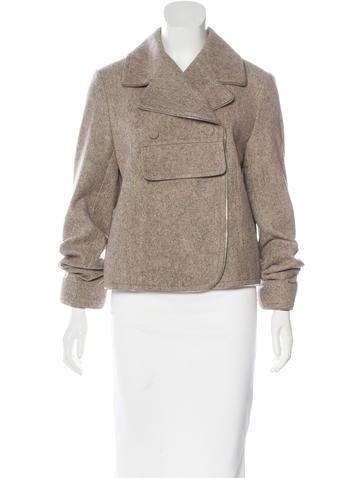 Alexander Wang Wool-Blend Long Sleeve Jacket None