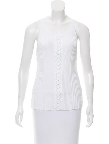 Alexander Wang Sleeveless Rib Knit Top w/ Tags None