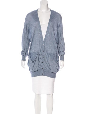Alexander Wang Button-Up Knit Cardigan None