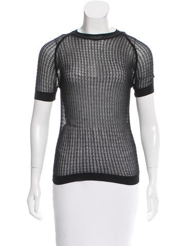 Alexander Wang Sheer Knit Top None