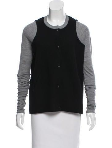 Alexander Wang Contrast Button-Up Cardigan None