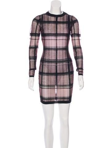 Alexander Wang Wool-Blend Sheer Dress None