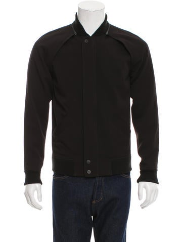 Alexander Wang Rib Knit-Trimmed Removable Sleeve Jacket None