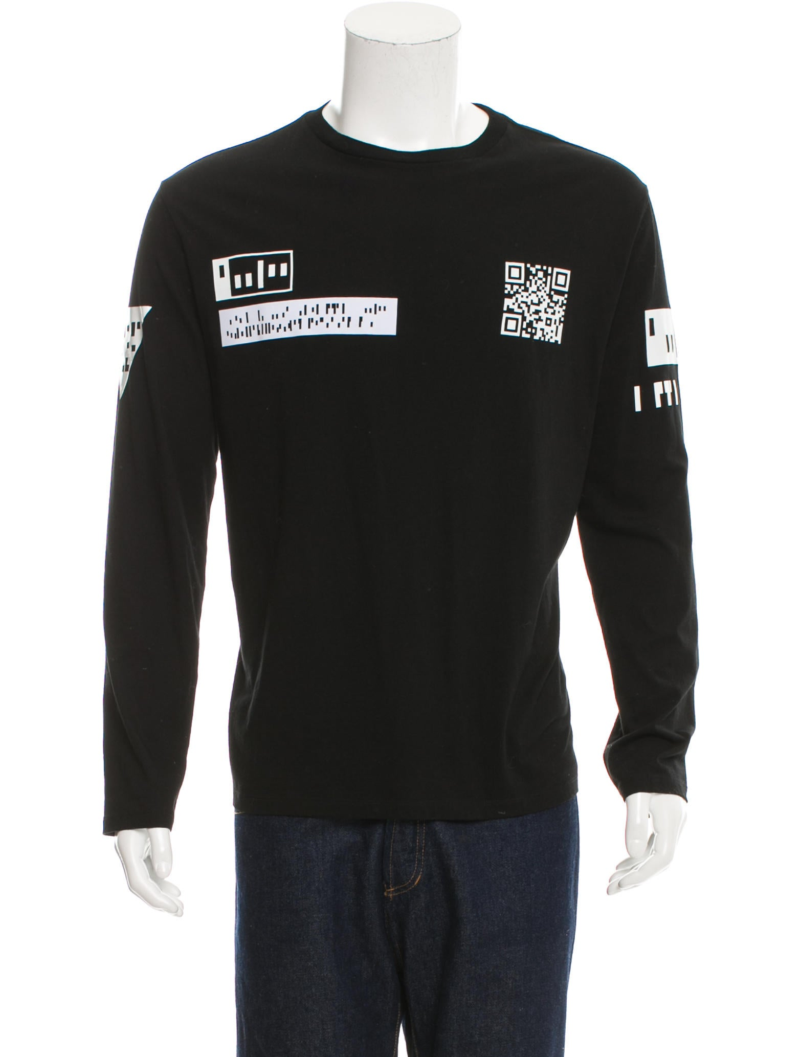alexander wang printed crew neck t shirt clothing alx37360 the realreal. Black Bedroom Furniture Sets. Home Design Ideas