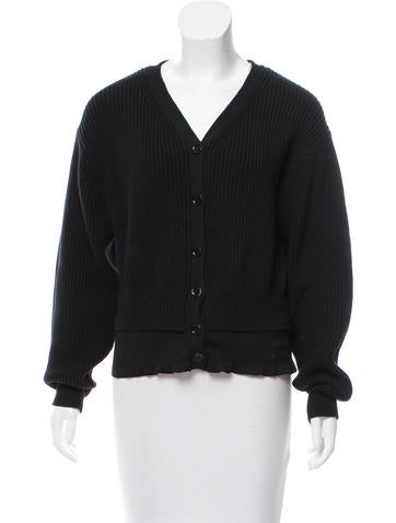 Alexander Wang Button-Up V-Neck Cardigan None