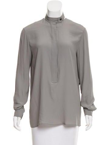 Alexander Wang Long Sleeve Button-Up Blouse None
