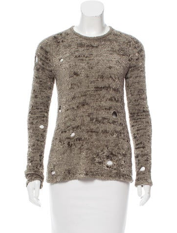 Alexander Wang Textured Long Sleeve Sweater None