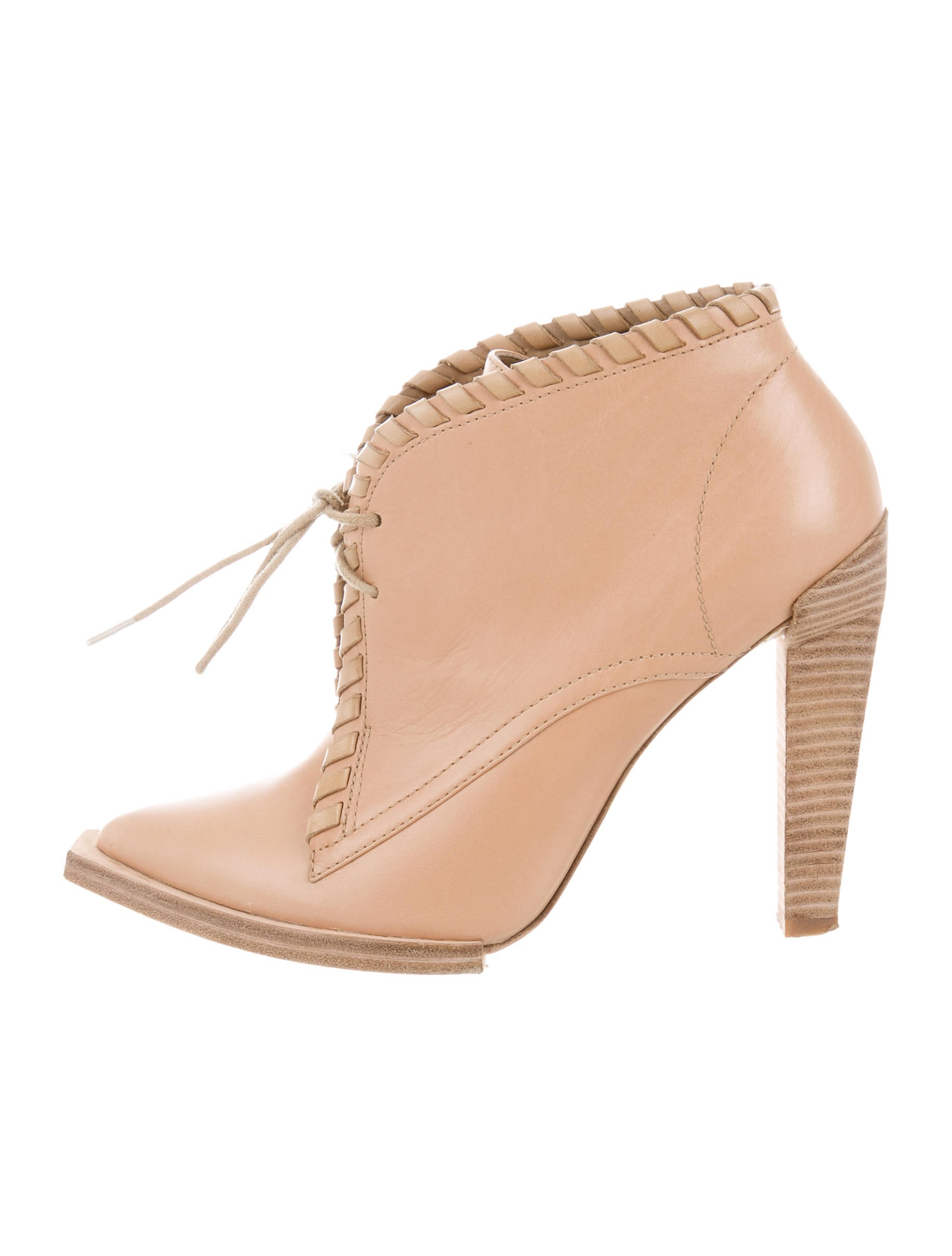 wang leather lace up ankle boots shoes