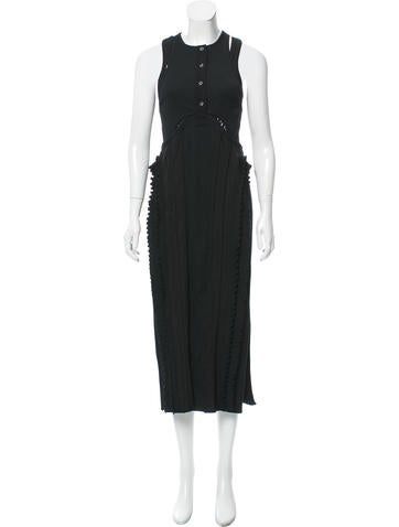 Alexander Wang Mesh-Trimmed Midi Dress None