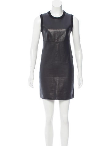 Alexander Wang Leather-Accented Mini Dress None