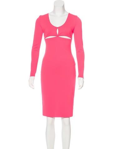 Alexander Wang Long Sleeve Cutout Dress None