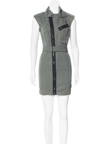 Alexander Wang Military Sheath Dress None