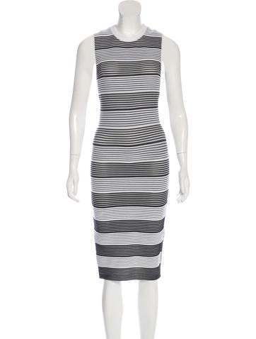 Alexander Wang Striped Knit Dress None