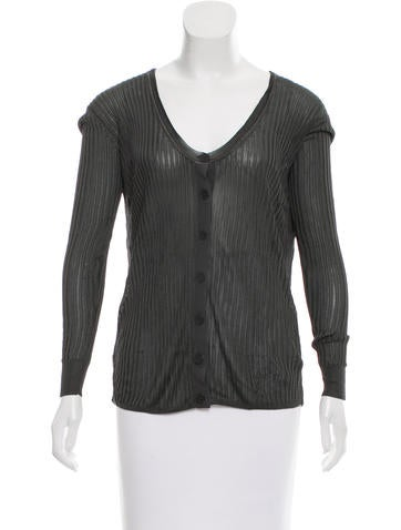 Alexander Wang Long Sleeve Knit Cardigan None