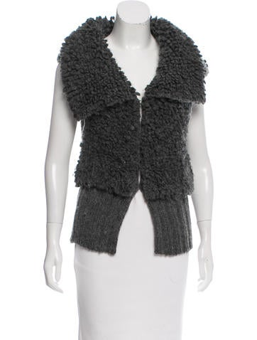 Alexander Wang Textured Wool-Blend Vest None