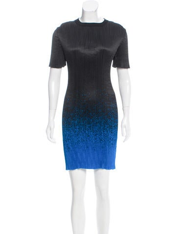 Alexander Wang Gradient Plissé Dress None