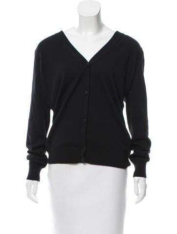 Alexander Wang Silk Button-Up Cardigan None