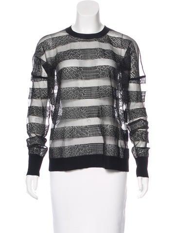 Alexander Wang Mesh Striped Sweatshirt None