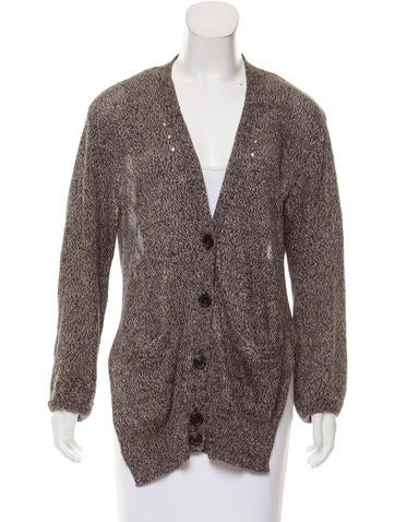 Alexander Wang Distressed Button-Up Cardigan None