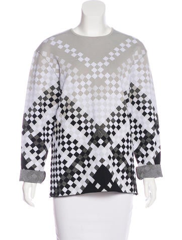 Alexander Wang Checkerboard Long Sleeve Top None