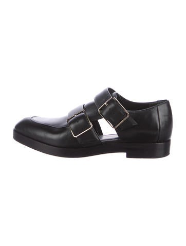 Alexander Wang Leather Cutout Loafers None