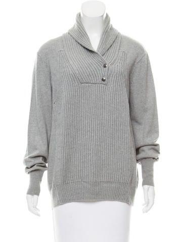 Alexander Wang Rib Knit Oversize Sweater None