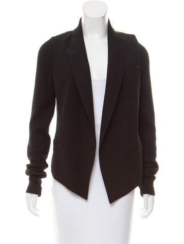 clothing for s co in black macys only macy draped deep petite style created drapes lyst at blazer