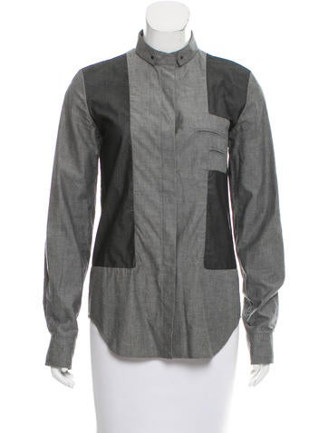 Alexander Wang Contrast-Trimmed Button-Up Top None