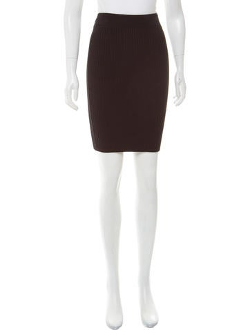 Alexander Wang Rib Knit Knee-Length Skirt w/ Tags None