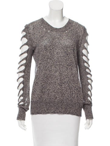 Alexander Wang Distressed Long Sleeve Sweater None