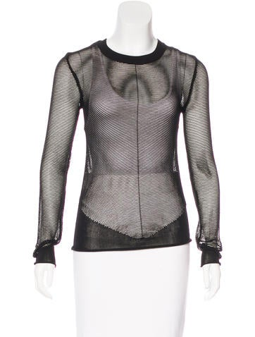Alexander Wang Mesh Long Sleeve Top None