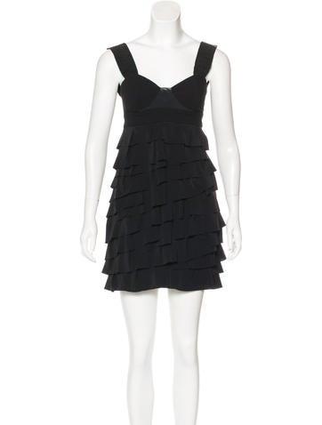 Alexander Wang Silk-Accented Wool Dress None