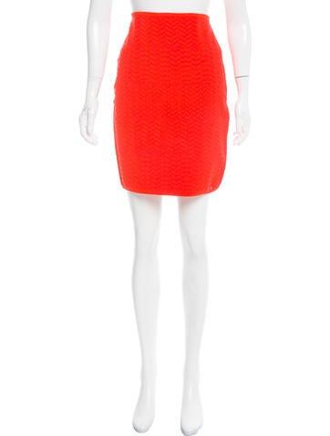 Alexander Wang Textured Knit Bodycon Skirt None
