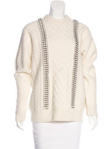 Alexander Wang Embellished Wool Sweater w/ Tags None