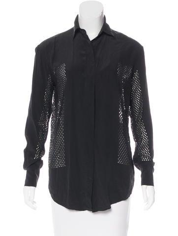 Alexander Wang Silk Button-Up Top None