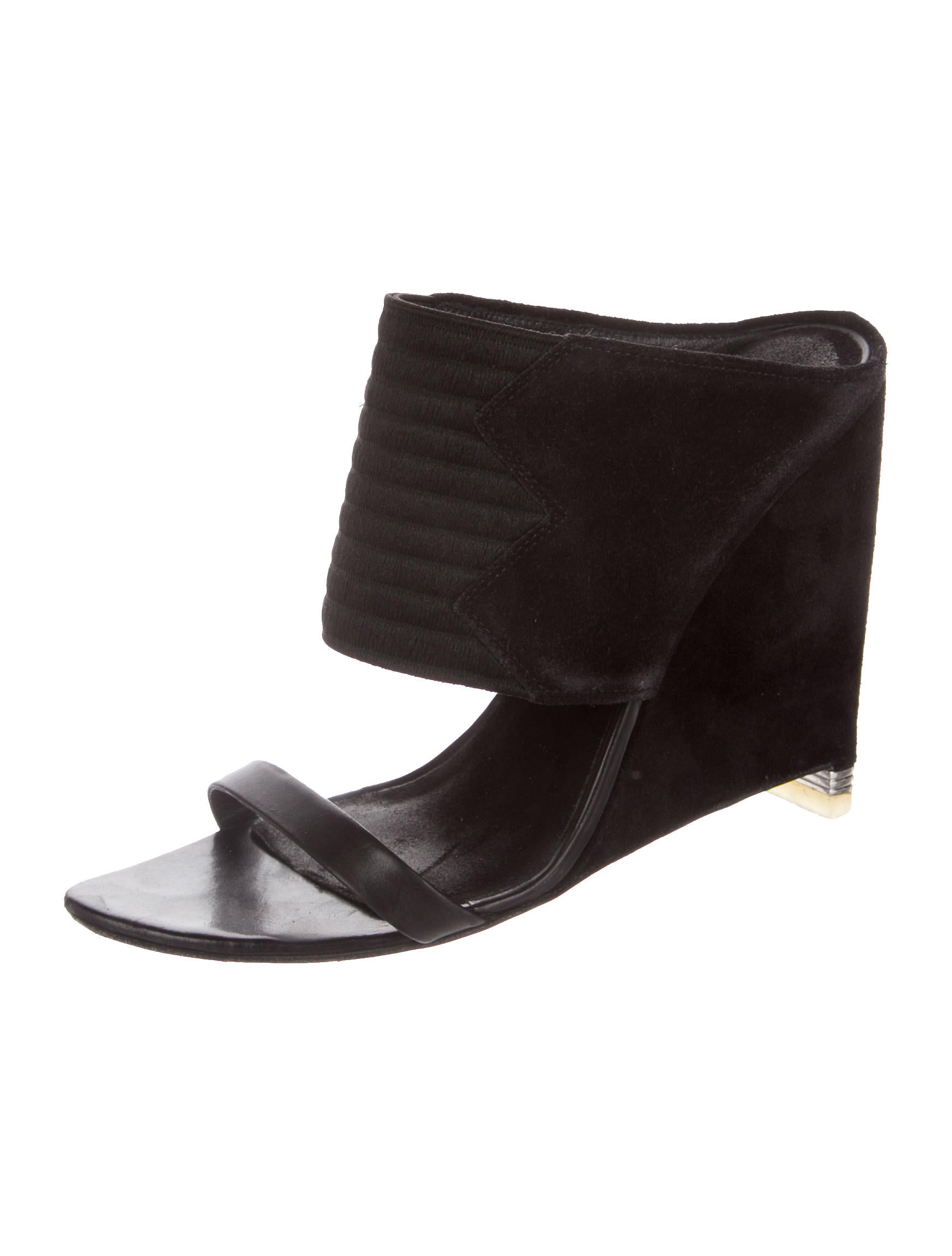 wang suede slide wedges shoes alx41200 the