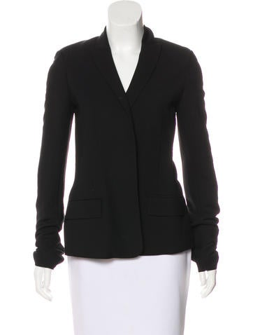 Alexander Wang Wool & Silk-Blend Cutout Blazer None