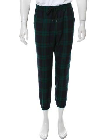 Alexander Wang Plaid Drawstring Joggers - Clothing - ALX41531 | The RealReal