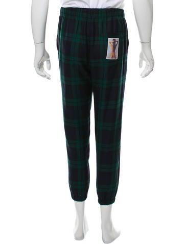 Alexander Wang Plaid Drawstring Joggers - Clothing - ALX41531   The RealReal